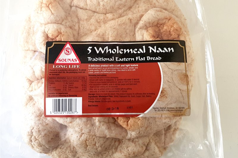 wholemeal naan